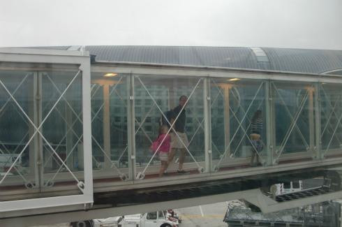 Deboarding at Charles de Gaulle airport
