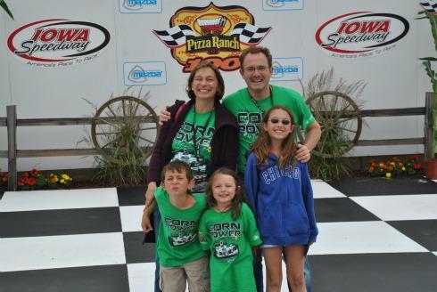Druckman Family in Iowa Speedway Winners Circle