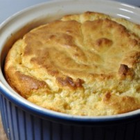 Ancho Chili and Tomato Goat Cheese Souffle for a Light Summer Dinner