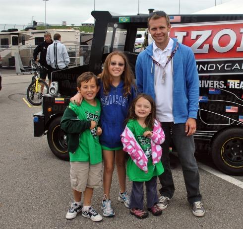 Posing with racecar driver Ed Carpenter