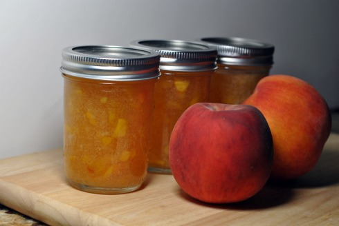 Peach Jam with Bourbon