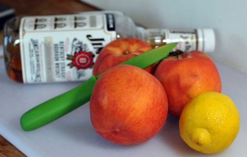 Bourbon and Peaches for Canning
