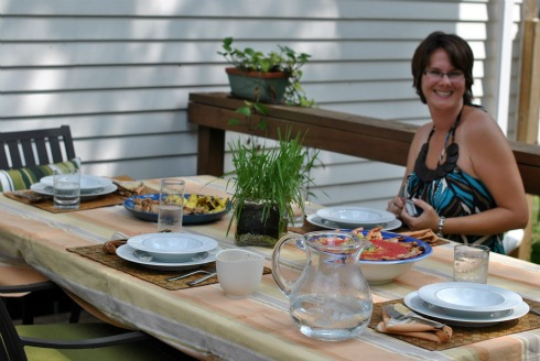 Michelle from Honest and Truly at Summer Grilling Feast