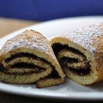 Postpartum Nutella Roll Up Sponge Cake