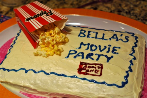 Tween movie theme birthday cake