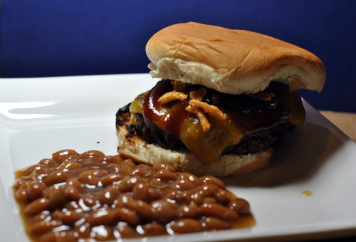 Barbecue Onion String Burger