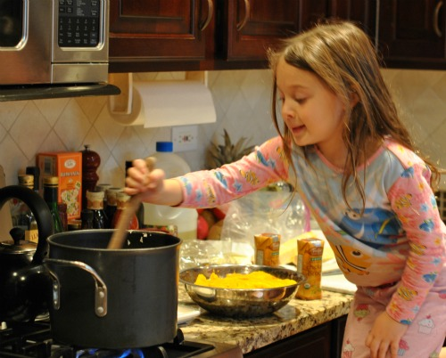 Child Stirring Soup