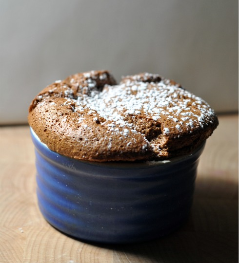 Chocolate Souffles to Close out Valentine's Day