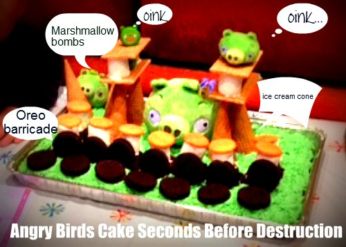 How to Make an Angry Birds Cake and Blast It Into a Tasty Mess
