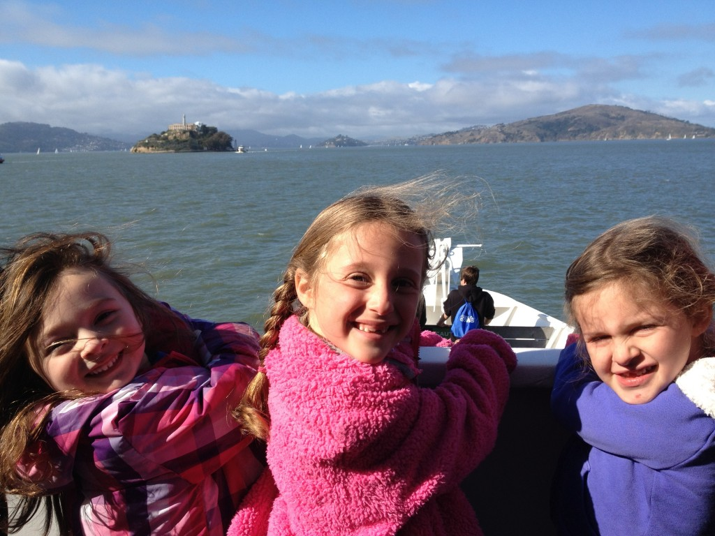 view of Alcatraz from boat