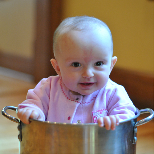 Baby in Soup Pot