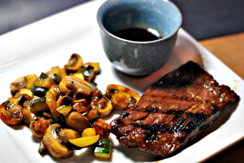steak sauce grilled teriyaki steak dinner steak with teriyaki sauce ...