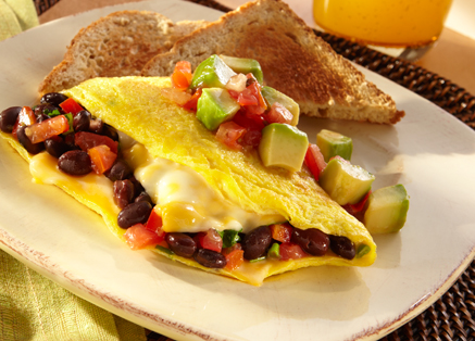 Black Bean Omelet with Cheese