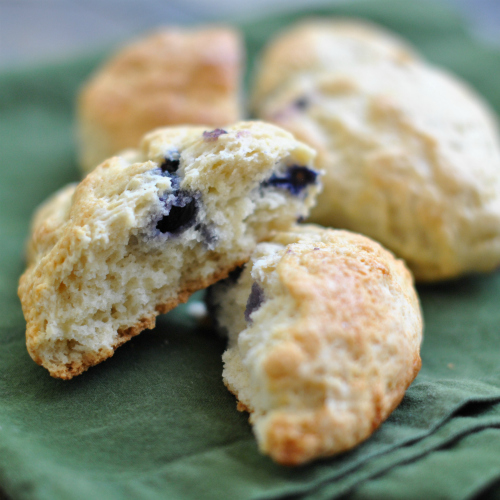 Crumbly Blueberry Scone
