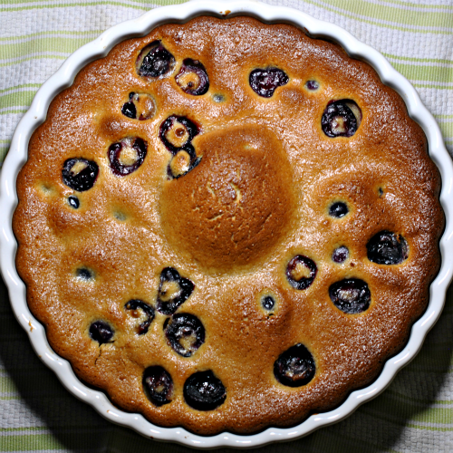 Cherry Clafouti hot out of the oven
