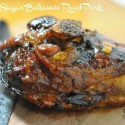 Brown Sugar Balsamic Glazed Roast Pork