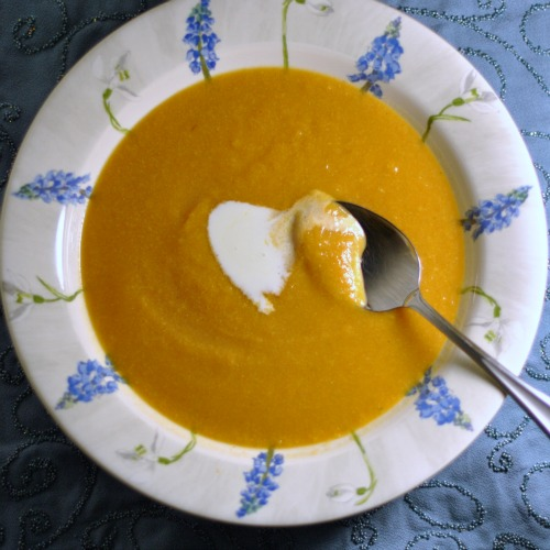 A Bisque in Name Only: Sweet Potato Corn Ancho Chili Bisque