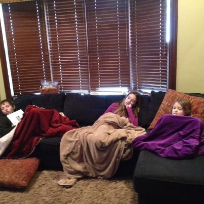 sick kids on couch