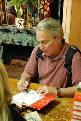My father at a book signing for the Grave Gourmet in NYC - Summer 2010