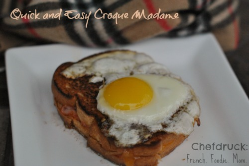 quick and easy croque madame