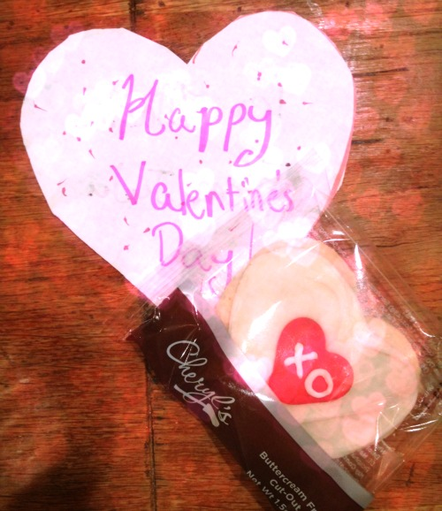 We're going stealth with our valentine's this year, stapling an individually wrapped and clearly labeled Cheryls' cookie. Not candy... but still sweet.