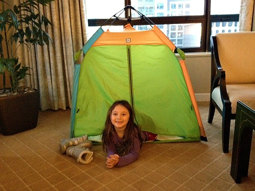 tent for kids at Ritz Carlton