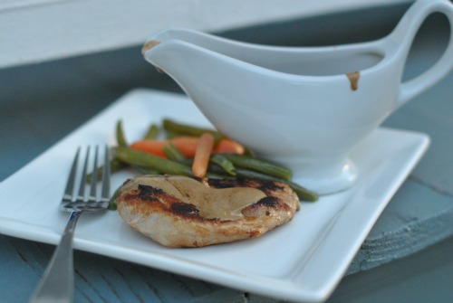 Quick French Weeknight Dinner: Pork Medallions with Mustard Sauce