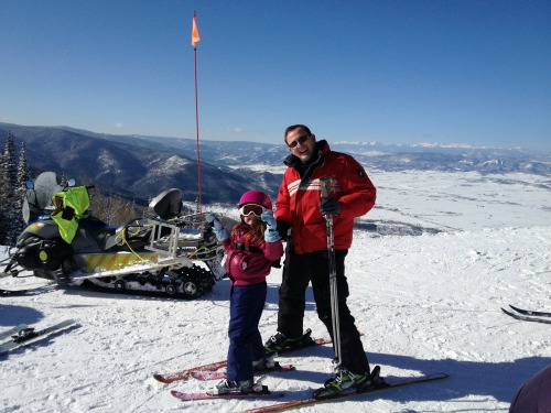 Steve and Juju at the top of Steamboat mountain.