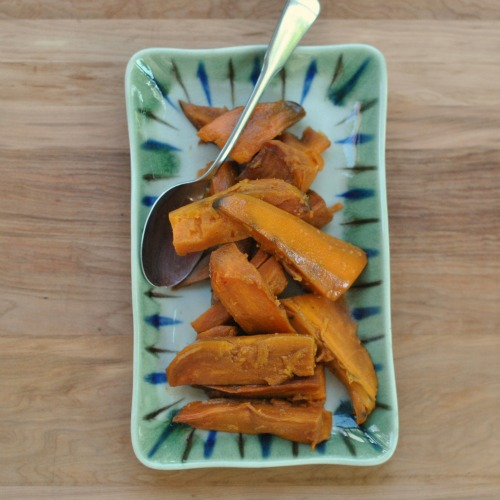 asian roasted sweet potatoes