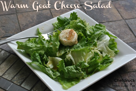 The Perfect Goat Cheese Medalion Salad