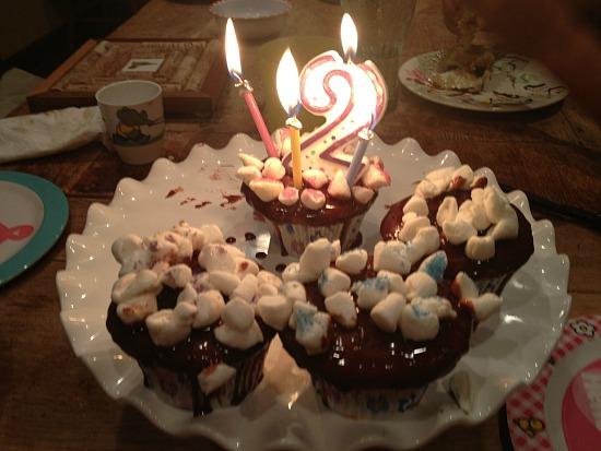 Ganache cupcake