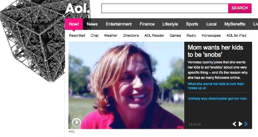 AOL Chefdruck Homepage