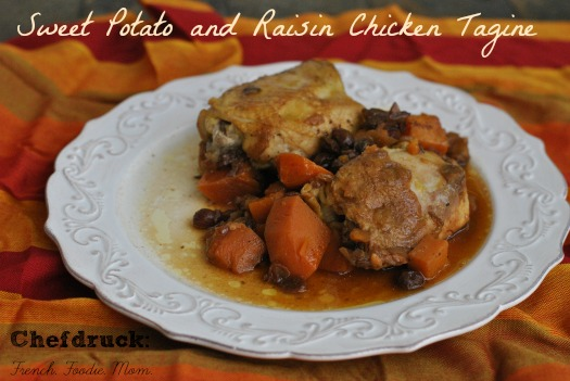 Sweet Potato and Raisin Chicken Tagine