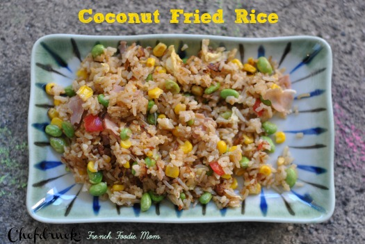 Fried rice with coconut rice