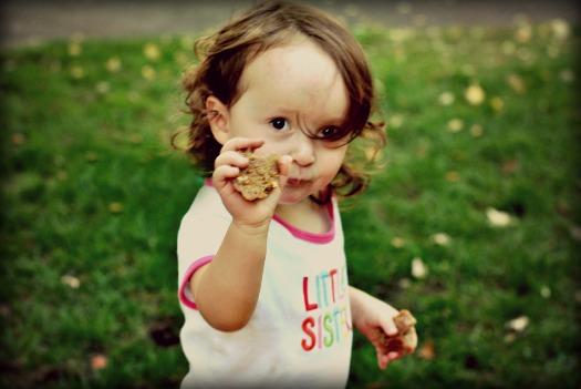 Baby Sophie, my little madeleine thief.