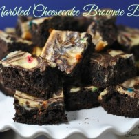 Marble Cheesecake Brownie Bites