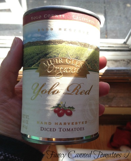 I'd been saving these super fancy canned tomatoes for a special occasion...