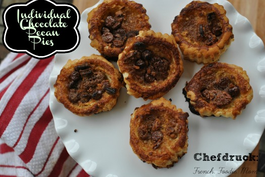 Mini Puff Pastry Chocolate Pecan Pies