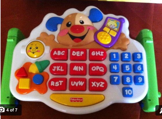 Toddlers and tech have come a long way since we attached this keyboard to our computer.