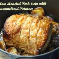 """Pork Roast """"a la Paysanne"""" aka Slow Roasted Pork Roast on a Bed of Onions and Potatoes"""