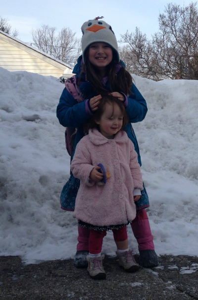 Sophie and Juju Snow