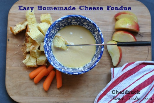 cheese fondue with dipping veggies
