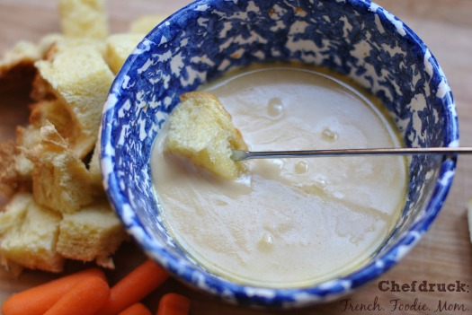 homemade cheese fondue without a pot