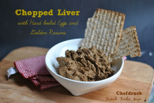 Homemade Chopped Liver with Golden Raisins and Hard Boiled Eggs