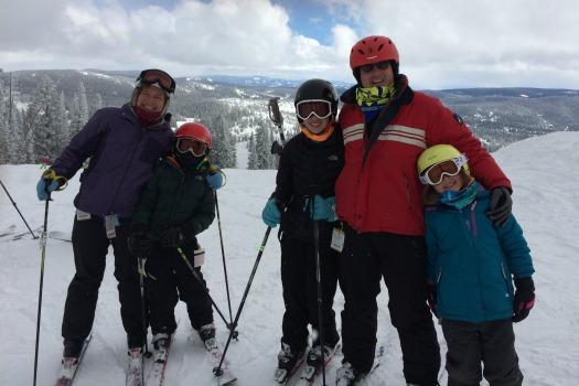 Druckman Family Skiing