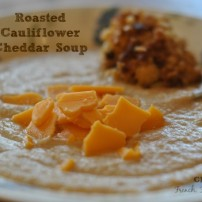 Cauliflower Cheddar Apple Soup