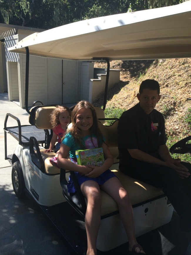 My girls couldn't get enough of riding the golf carts around the resort.