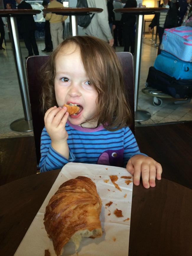 Sophie first croissant