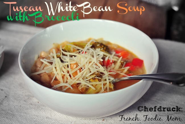 bowl of tuscan white bean soup