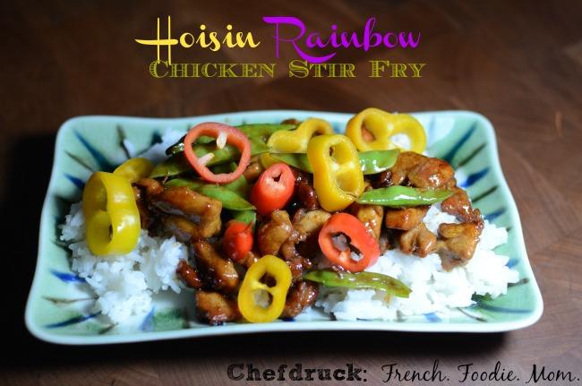 Hoisin Rainbow Chicken Stir Fry